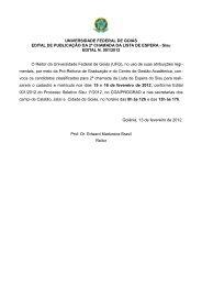 Relação dos Convocados em Segunda Chamada ... - Vestibular - UFG