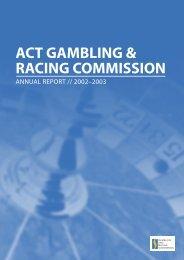 act gambling & racing commission - Jogo Remoto