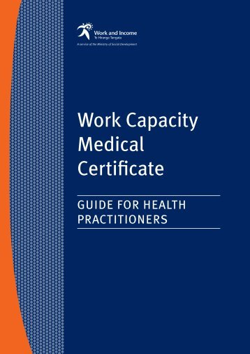 Work Capacity Medical Certificate - New Zealand Doctor