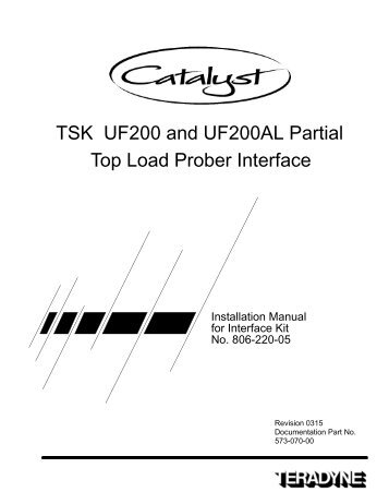 tel p 12xl top load prober i f manual zzybot net rh yumpu com TSK Equipment tsk uf3000 prober manual