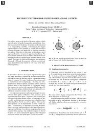Recursive filtering for splines on hexagonal lattices
