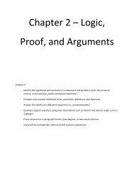 Chapter 2 – Logic, Proof, and Arguments