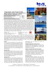 17 Tage Kanada – Indian Summer in Ontario - Herz Reisen