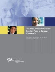An Update - Certified General Accountants Association of Canada