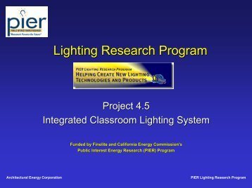 Integrated Classroom Lighting Presentation - Architectural Energy ...