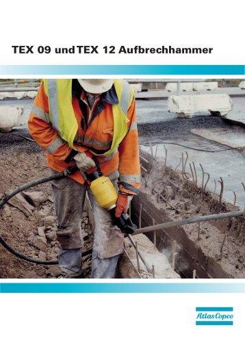 TEX 09 und TEX 12 Aufbrechhammer - Lutz Bauwerkzeuge