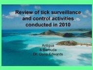 Review of tick surveillance and control activities ... - Caribvet