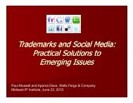 Trademarks and Social Media: Practical Solutions to Practical ...