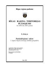 rīgas rajona teritorijas plānojums - Rīgas Plānošanas Reģions