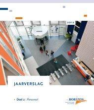 Jaarverslag 2012 deel 2 (Personeel) - Horizon College