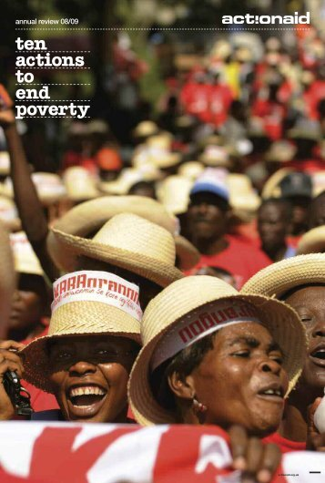 ten actions to end poverty tackle women's rights - ActionAid
