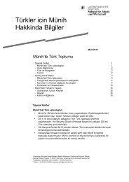 Türkler icin Münih Hakkinda Bilgiler - Wirtschaft