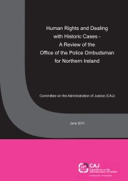 Human Rights and Dealing with Historic Cases - CAIN - University of ...