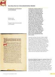 Das älteste Buch der Universitätsbibliothek Bielefeld