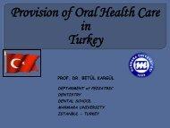 Türkiyenin genel profili - European Association of Dental Public ...