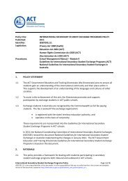 International Secondary Student Exchange Programs - DET