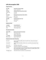LAR Jahresrangliste 2009 - LAR Windisch