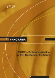 PROFF – Professionalisation of VET teachers for the future - Europa