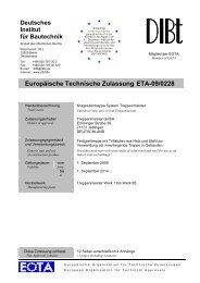 Europäische Technische Zulassung ETA-09/0228 - Treppenmeister