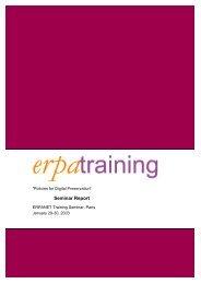 Seminar Report - Erpanet