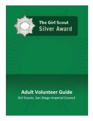 The Girl Scouts Silver Award- Adult Guide - Girl Scouts San Diego