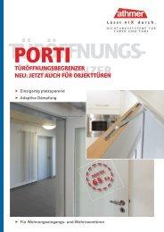 Türöffnungsbegrenzer Porti - ATHMER: Fingerschutz