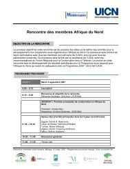 Rencontre des membres Afrique du Nord