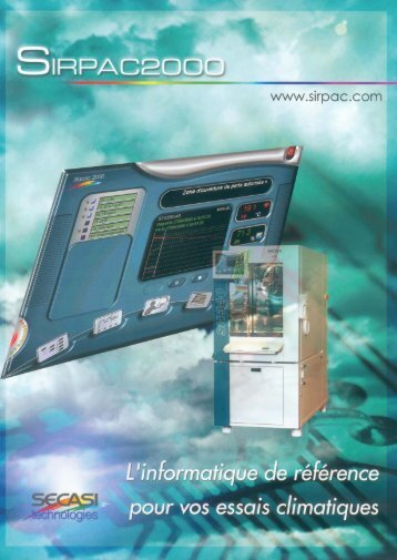 Brochure Sirpac2000 - Weiss Technik France