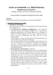 Protokoll der Mitgliederversammlung vom 17.10.2011