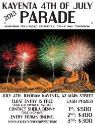 KAYENTA 4TH OF JULY 4 - The Kayenta Township
