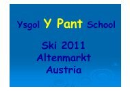 to download a printable PDF version - Y Pant School