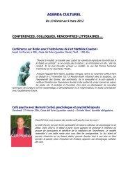 Agenda culturel du 13 février au 5 mars 2012 - Lycée Lyautey