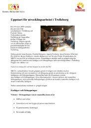 Uppstart för utvecklingsarbetet i Trelleborg