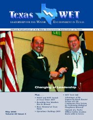 Texas WET Magazine - Water Environment Association of Texas