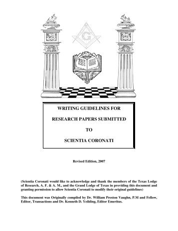 guideline for research paper Guidelines for researching & writing a comparative paper you will need to know general guidelines regarding the research and writing involved in a comparative paper.