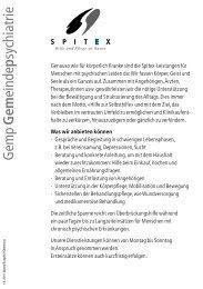 Gemeindepsychiatrie - Spitex Burgdorf-Oberburg