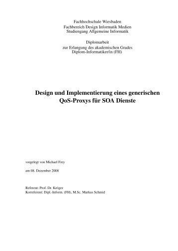 Design und Implementierung eines generischen QoS-Proxys für ...