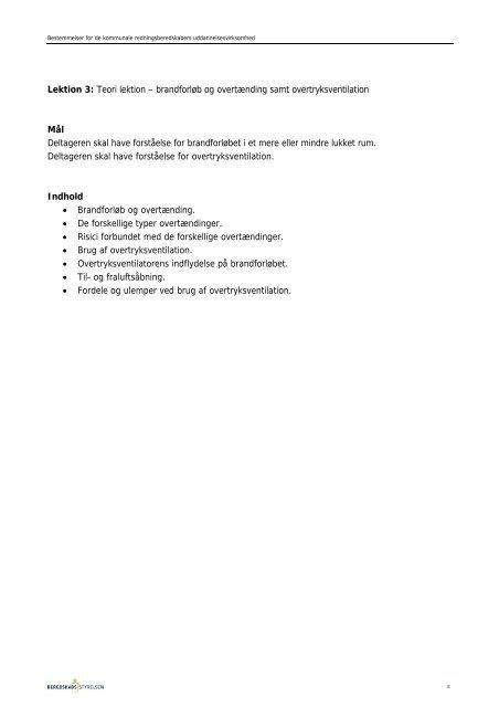 Vedligeholdelsesuddannelse 2010 - Beredskabsstyrelsen