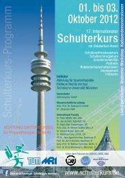 01. bis 03. Oktober 2012 Schulterkurs - Abteilung und Poliklinik für ...