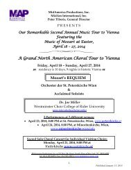 A Grand North American Choral Tour to Vienna Mozart's REQUIEM