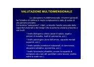 VALUTAZIONE MULTIDIMENSIONALE - Medicina e chirurgia