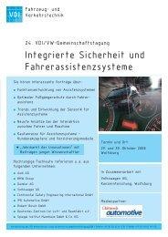 Integrierte Sicherheit und Fahrerassistenzsysteme - Spiegel Institut ...