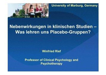 Nebenwirkungen in klinischen Studien – Was lehren uns Placebo ...