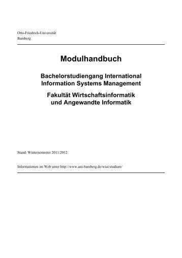 Modulhandbuch - Universität Bamberg