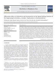 Differential effects of cholesterol and desmosterol on the ... - CCMB