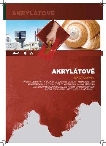 Akrylátové barvy a omítky (pdf) - Paulín CZ, sro