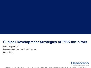 Clinical Development Strategies of PI3K Inhibitors - Array BioPharma