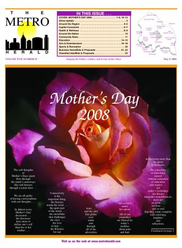 Mother's Day 2008 - The Metro Herald