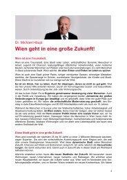 Dr. Michael Häupl: Wien geht in eine große Zukunft!