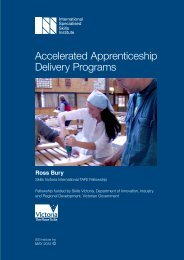 Accelerated Apprenticeship Delivery Programs - International ...